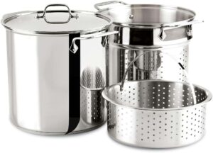All-Clad E796S364 Specialty 12-Quart Multi Cooker Cookware Set