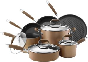 Anolon Advanced Hard-Anodized Nonstick Cookware Pots and Pans Set