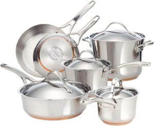 Anolon Nouvelle Stainless Steel Pots and Pans Set