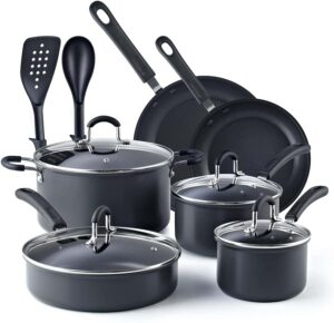 Cook N Home Nonstick Hard-Anodized Cookware Set