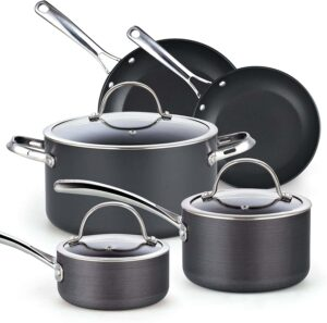 Cooks Standard 8-Piece Nonstick Hard-Anodized Cookware Set