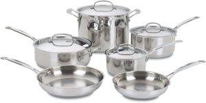 Cuisinart 77-10 Chef's Classic Stainless-Steel Cookware Set