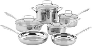 Cuisinart TPS-10 Tri-ply Stainless Steel Cookware Set