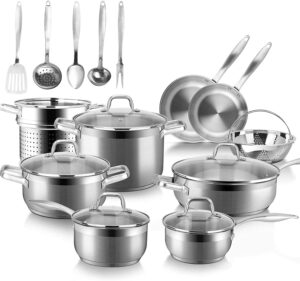 Duxtop SSIB-19 Professional Stainless Steel Cookware Set