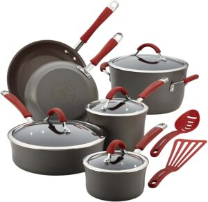 Rachael Ray Cucina Hard-Anodized Nonstick Cookware Pots and Pans Set