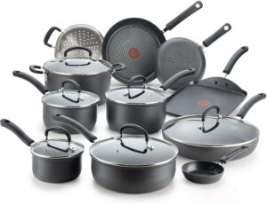 T-fal Ultimate Hard-Anodized Nonstick 17-Piece Cookware Set