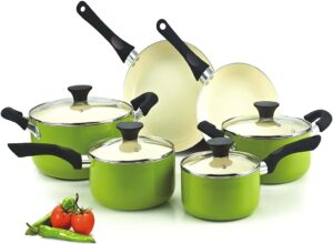Cook N Home Ceramic Coating 10-Piece Cookware Set